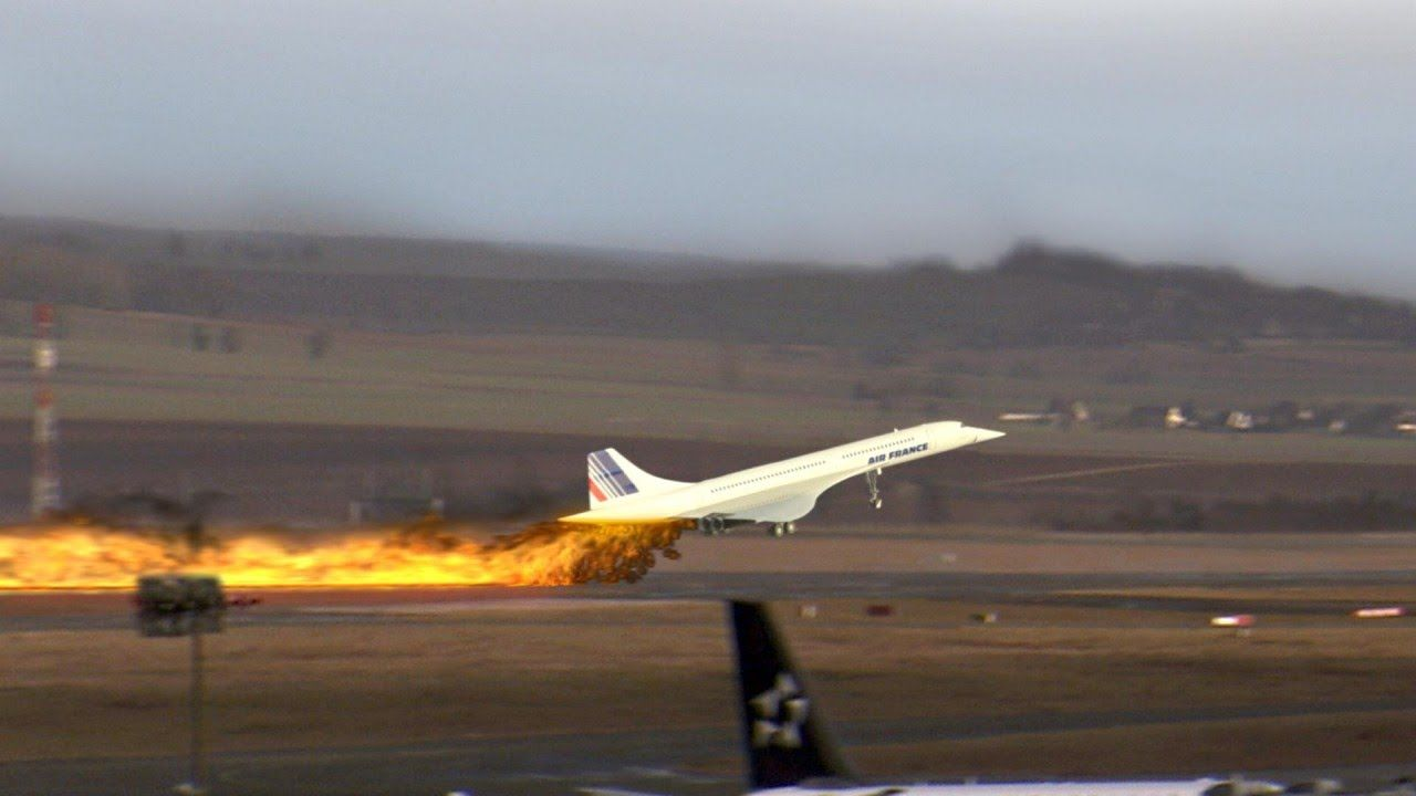 Image result for an air france concorde crashes outside paris