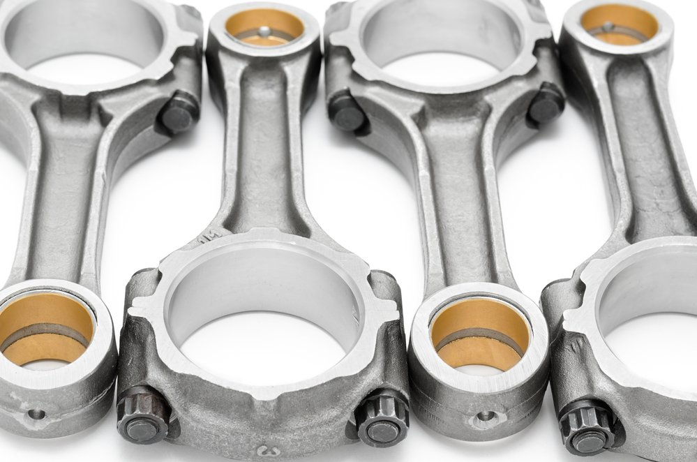 four connecting rods - spare parts of a disel engine