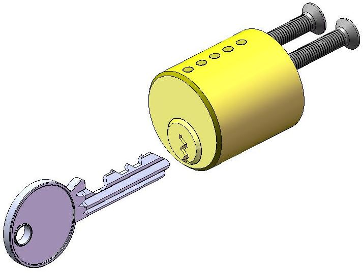Lock Design: Solid model of cylinder