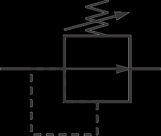 hydraulic symbols - hydraulic pressure relief valve