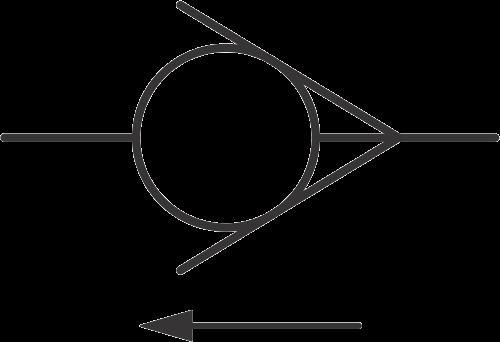 hydraulic symbols - hydraulic check valve