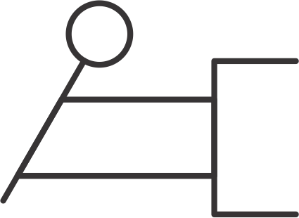 hydraulic symbols - pull / push lever