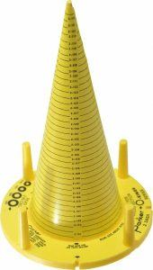 measure o-ring with a sizing cone