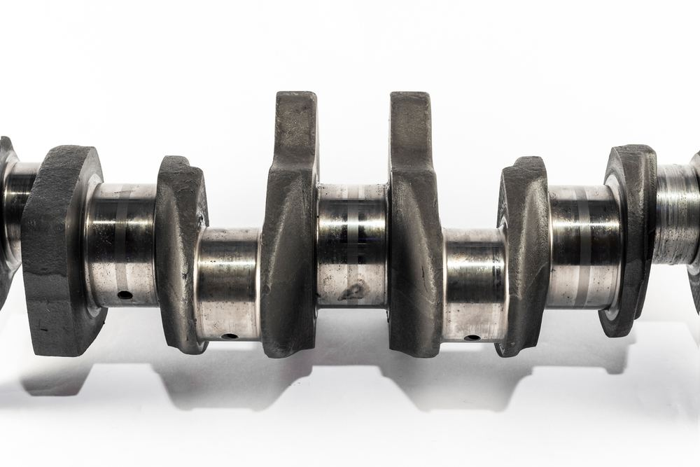 A crankshaft made from maraging steel