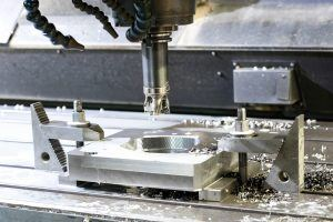 6061-T6 aluminium parts being machined