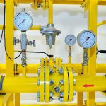 Pressure meters on natural gas pipeline