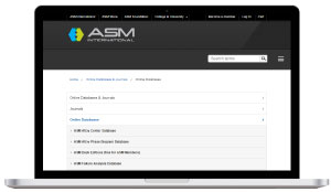 asm international - material database