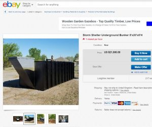 ebay tornado shelter