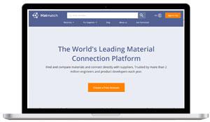 matmatch materials database website screen