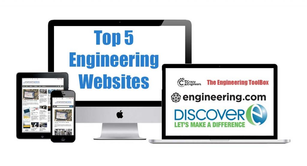 Top 5 engineering websites according to EngineeringClicks.com