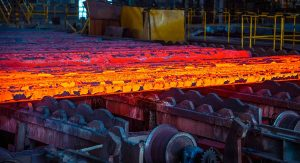 The melting point of steel alloys