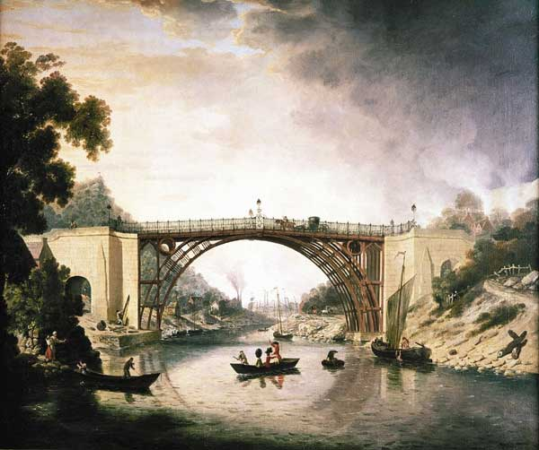 Painting by William Williams The Iron Bridge