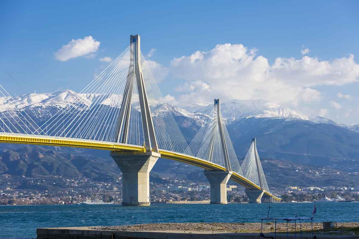 Example of a Suspension Bridge: The Rio Antirrio bridge in Greece