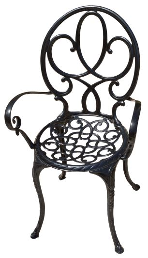 wrought iron vs cast iron chair