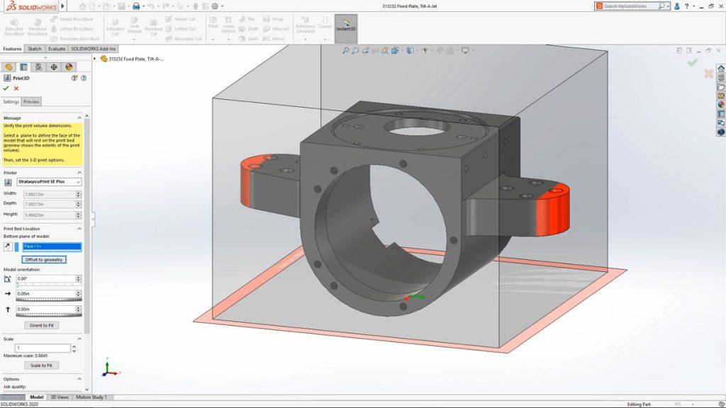 Solidworks 2020 3D prinitng