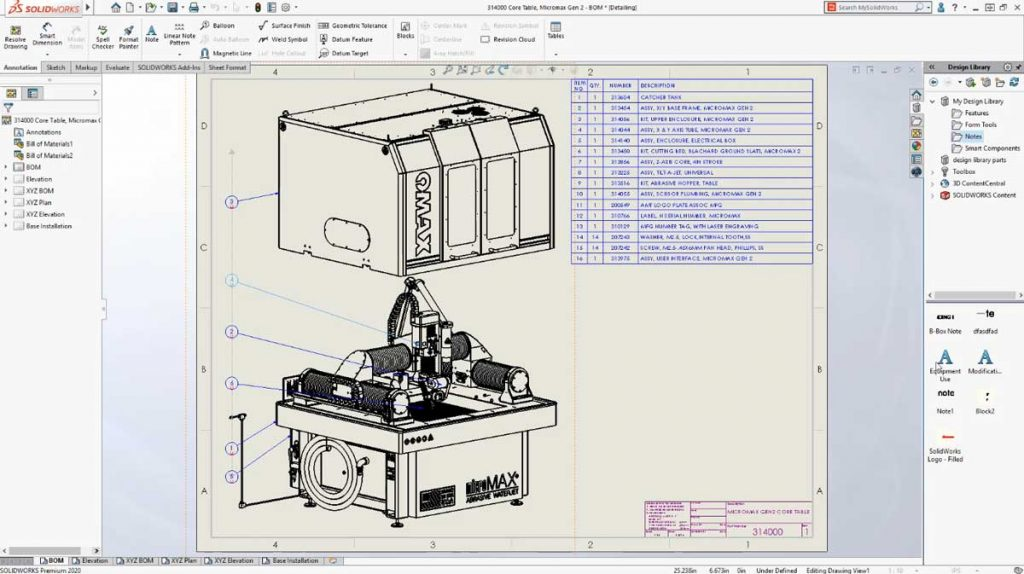 Detailing in Solidworks 2020