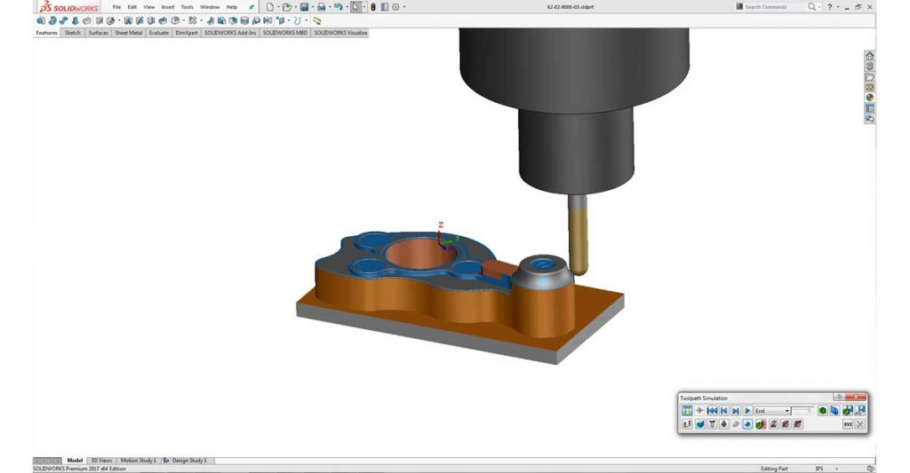 CAM software SolidWorks