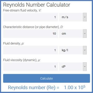 link to reynolds number calculator