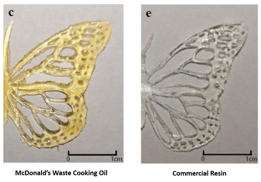 3D printing with McDonalds cooking oil: 3D printed butterfly