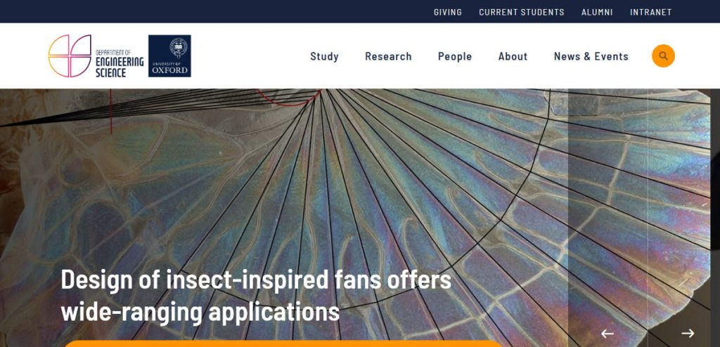 university of Oxford-Department-of-Engineering-Science website
