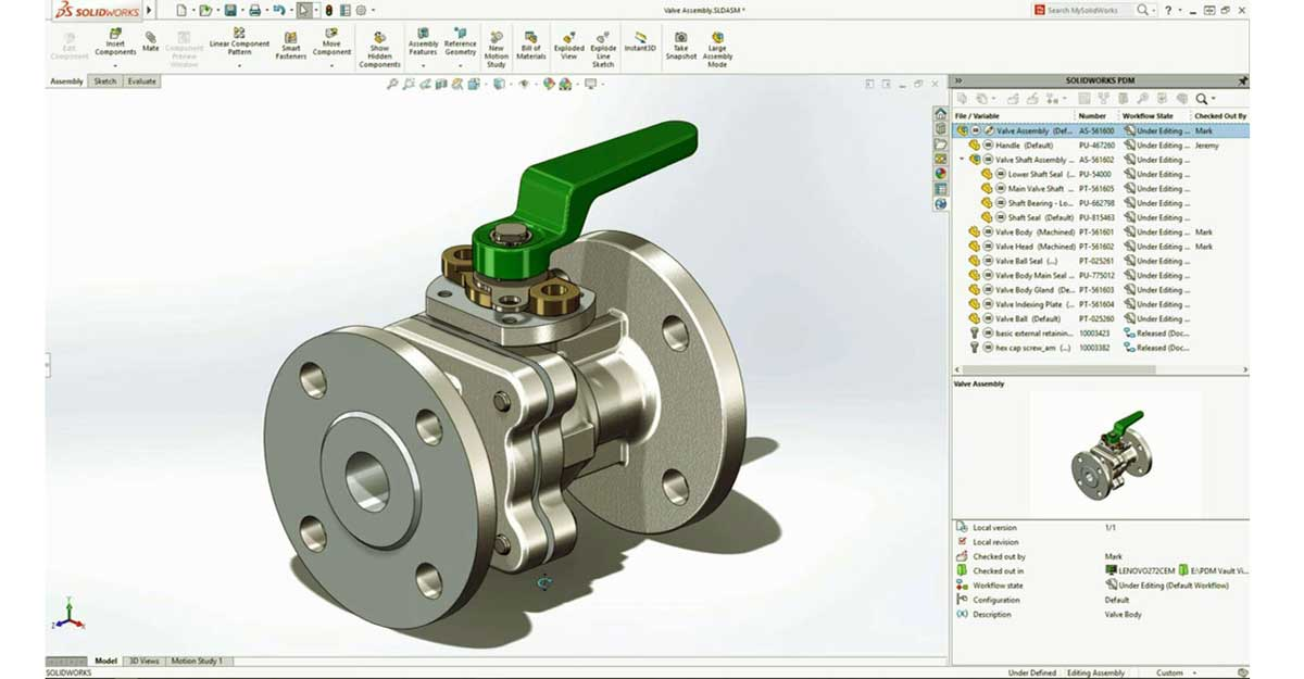 Solidworks PDM screenshot