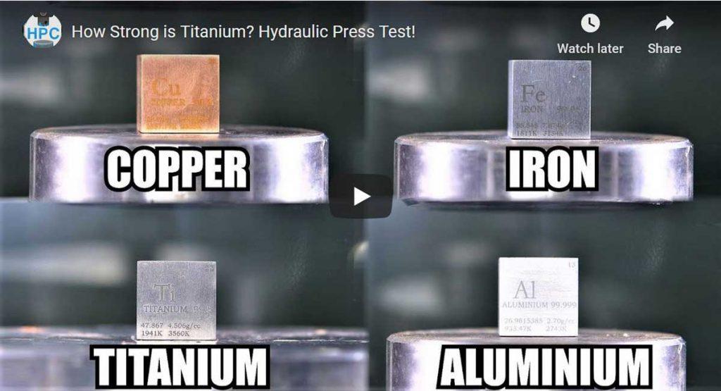 titanium-aluminium-under-hydraulic press