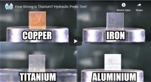 titanium-aluminium-under-hydraulic press