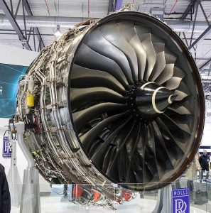The 3.00 m (118 in) fan of the Trent XWB