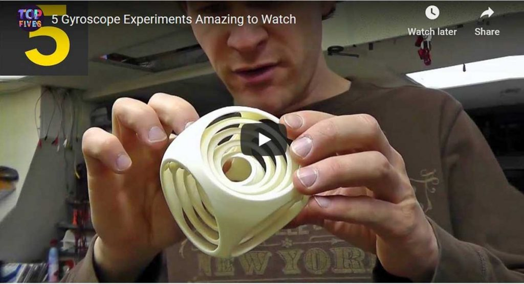 video of gyroscope experiments
