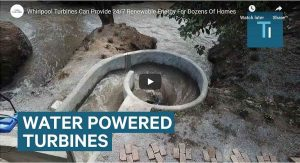 Water powered Whirlpool Turbine video