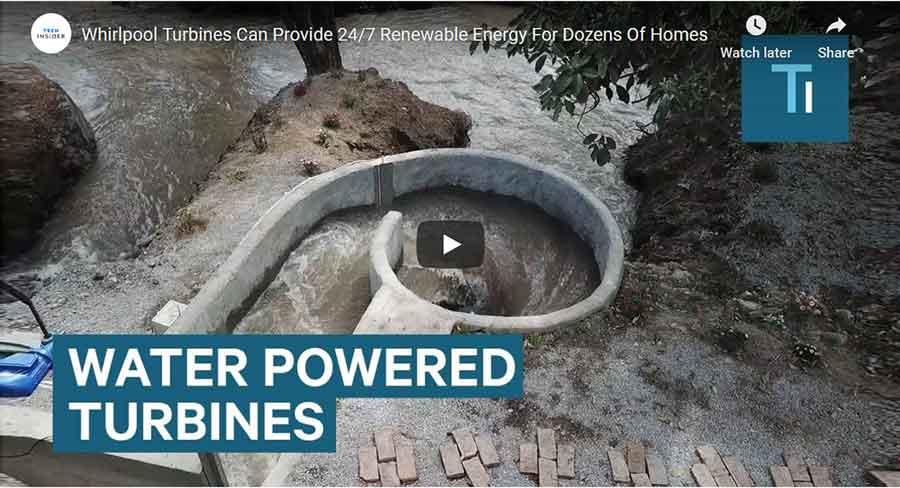 Water powered Whirlpool Turbine video