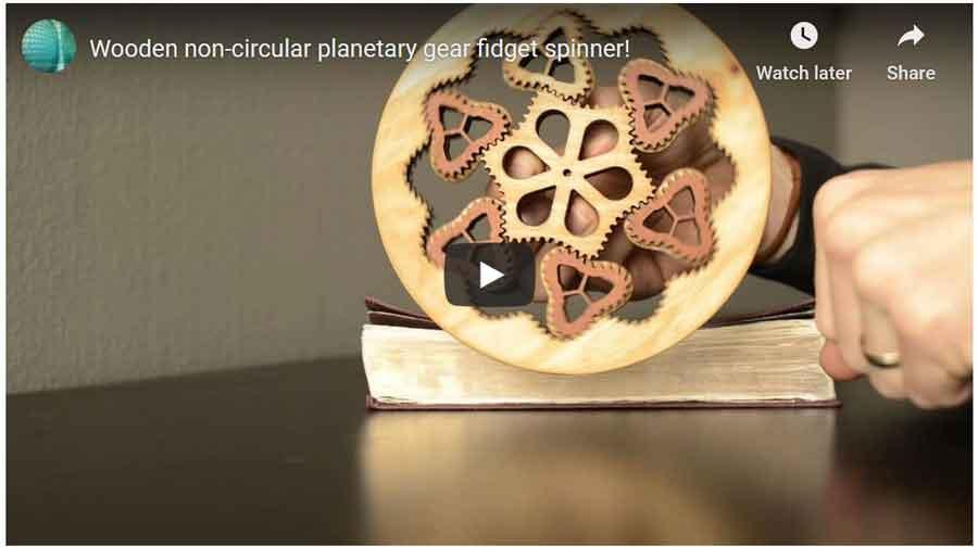 wooden non-Circular Planetary Gear