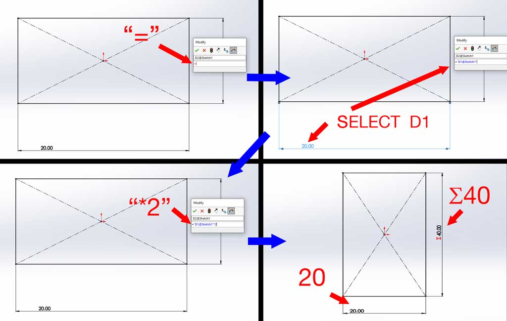 linking units in solidworks (tutorial)