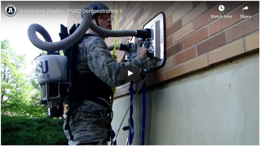 PVAC-system-climb-like-a-lizard: man climbing the wall using the PVAC system