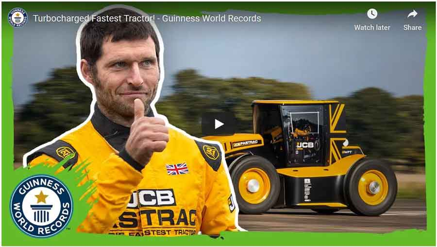 turbocharged JCB Fastrac. Guinness World record