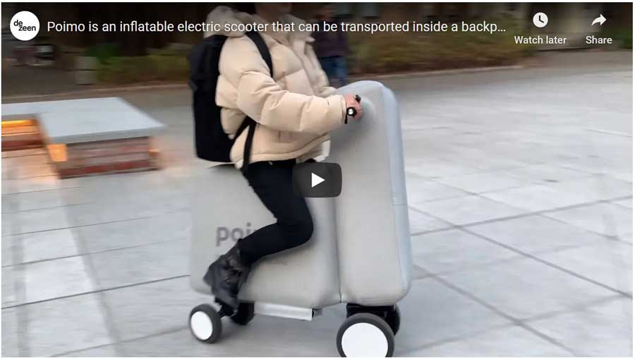 poimo inflatable scooter video