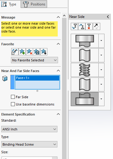 Solidworks Advanced Hole tool