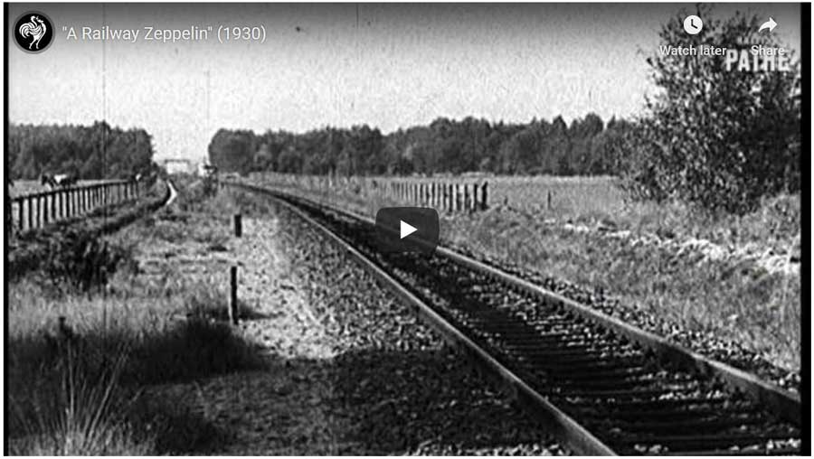 the Schienenzeppelin Train was an experimental railcar that looked like a Zeppelin airship