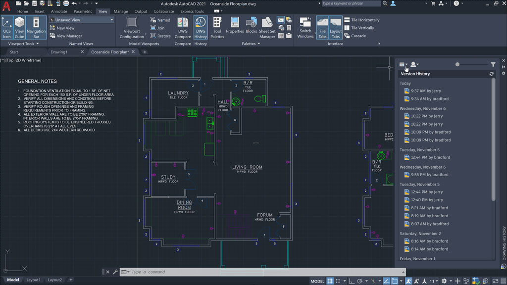 AutoCAD has a user-friendly interface that allows the user to become familiar with the software quickly and easily
