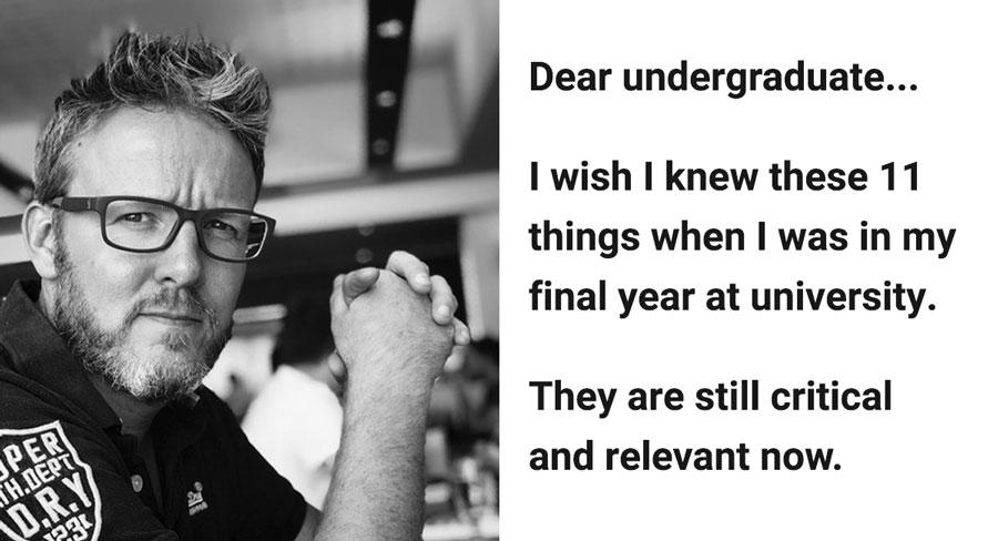 undergraduate career advice from a Russell Beard, a veteran product designer and enterpreneur