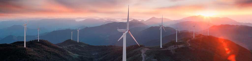 mountain-wind- turbines farm