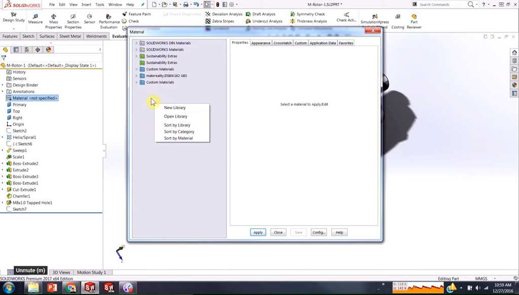 solidworks-material-library