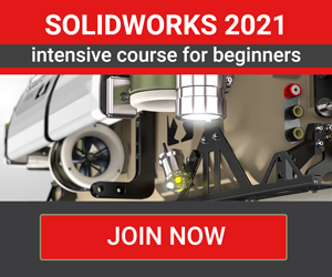 Solidworks 2021 - Intensive training course for complete beginners