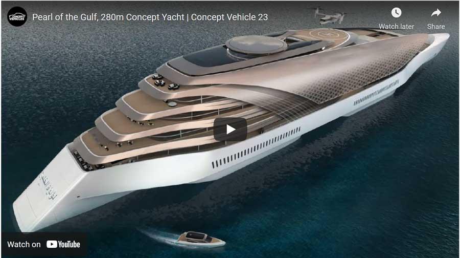 concept luxury yacht video