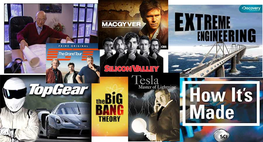 engineering shows. online and tv shows for engineers including impossible engineering, extreme engineering etc