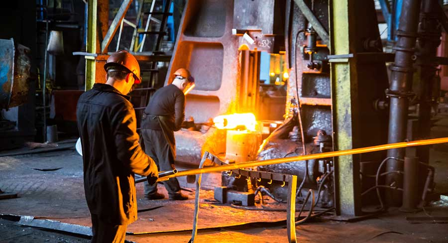 Strain hardening or cold working or work hardening: metal working plant
