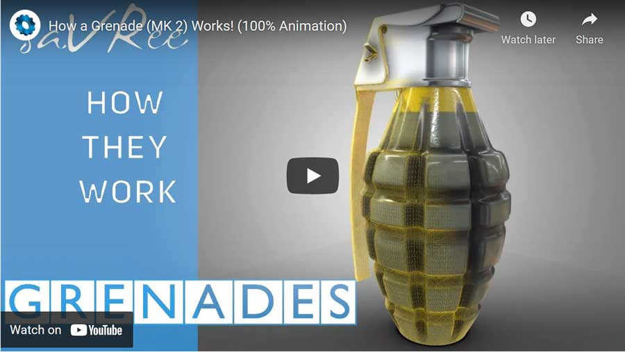 How a MK2 grenade works video
