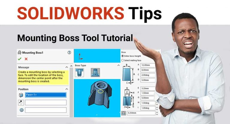 Solidworks-mounting-boss-tool-tutorial