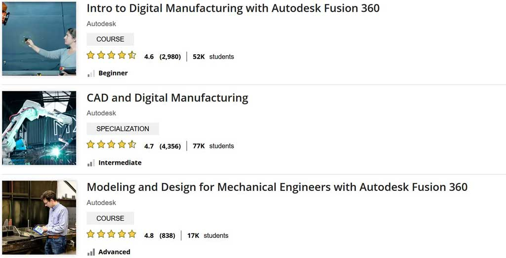 Fusion 360 Tutorials from Udemy