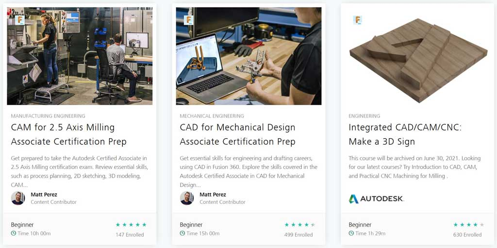 Fusion 360 tutorials: Autodesk academy courses